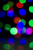 Colorful Christmas Abstract Background Lights, Defocused, Blur, Bokeh, Reflection