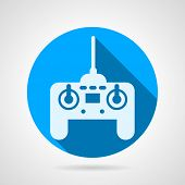 Radio remote controller flat vector icon
