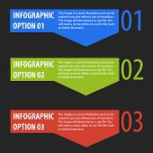 Abstract modern infographics options banner.
