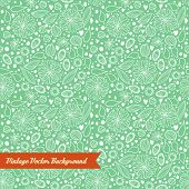 Hand-drawn seamless floral pattern
