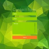 Polygonal green contact form.