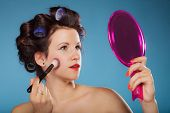 pic of blush  - Cosmetic beauty procedures and makeover concept - JPG