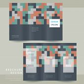 Creative Geometric Tri-fold Brochure Template