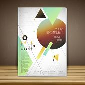 Geometrical Book Cover Brochure Template