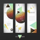 Geometrical Banner Brochure Template Design