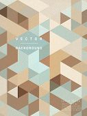 Retro Mosaic Poster Template Design
