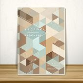 Retro Mosaic Book Cover Template Design