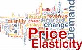 Price Elasticity Background Concept