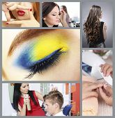 Beauty salon collage