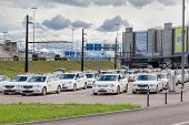 Taxi Cars Near Zurich Airport