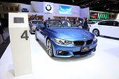 Bangkok - November 28: Bmw 420I Concertible Car On Display At The Motor Expo 2014 On November 28, 20