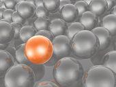 Orange And Grey Spheres