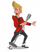 picture of rockabilly  - Man with microphone - JPG