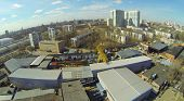 foto of premises  - Cityscape with the factory premises and residential buildings - JPG