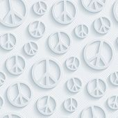 pic of peace  - Light perforated paper with cut out effect - JPG