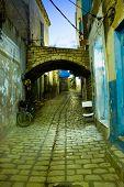 Arabian Street In Medina During Evening