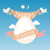 pic of bird egg  - Happy Easter concept with egg - JPG