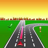 stock photo of gps navigation  - map navigator city streets gps with signs - JPG