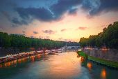 picture of pon  - Tiber river and Rome city view - JPG