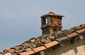 pic of chimney  - on the roof of the house - JPG