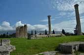 image of olympian  - A view of the ruins of the Olympian Zeus temple in Athens - JPG