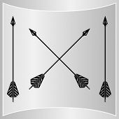 pic of bow arrow  - Bow Arrows Silhouette - JPG