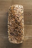 image of whole-wheat  - Whole wheat loaf of bread with seeds - JPG