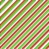 Striped Christmas Paper Illustration