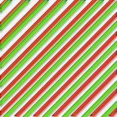 Striped Christmas Paper Illustration