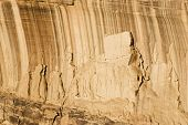 picture of semi-arid  - Abstract patterns created by desert varnish and erosion on the walls of a canyon in the Colorado National Monument - JPG