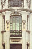 pic of neoclassical  - Facade of building in Madrid Spain - JPG
