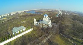 pic of ascension  - Architectural complex with Church of Kazan Icon of Mother of God and Temple of Ascension in Museum - JPG