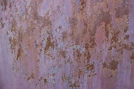 pic of rusty-spotted  - Old  metallic surface background with rusty spots - JPG