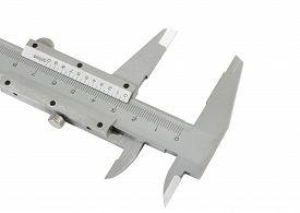 picture of vernier-caliper  - the Vernier caliper isolated on white background - JPG