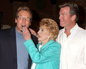 LOS ANGELES - MAR 24:  Doug Davidson, Jeanne Cooper, Peter Bergman at the Young & Restless 38th Anniversary On Set Press Party at CBS Television City on March 24, 2011 in Los Angeles, CA