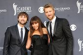 LAS VEGAS - APR 3:  Lady Antebellum  arriving at the Academy of Country Music Awards 2011 at MGM Grand Garden Arena on April 3, 2011 in Las Vegas, NV.