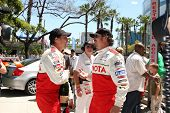 LOS ANGELES - APR 16:  William Fitchner, Kim Coates attend the Toyota Grand Prix Pro Celeb Race at t