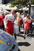 LOS ANGELES - APR 16:  Tito Ortiz, Jenna Jameson attends the Toyota Grand Prix Pro Celeb Race at the