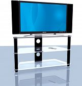 Hdtv Blue Abstract Big Screen 3D