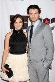 LOS ANGELES - APR 29:  Rachael Leigh Cook and Daniel Gillies arriving at the 18th Race to Erase MS Event at Century Plaza Hotel on April 29, 2011 in Century City, CA