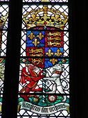 British royal stained glass coat of arms