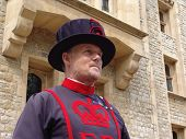 TOWER OF LONDON, UK - AUGUST 24: A yeoman of the guard at the Tower of London in London, England on