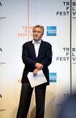 NEW YORK - APRIL 21 : Actor Robert De Niro listens to speeches at Tribeca Film Festival opening Apri