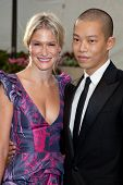 NEW YORK - SEPTEMBER 21: Julie Macklowe (L) and Jason Wu attend the Metropolitan Opera season openin