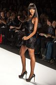 NEW YORK - FEBRUARY 12: Naomi Campbell walks the runway for the  Fashion for relief-Haiti   during M