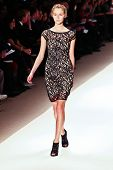 NEW YORK - FEBRUARY 15:  A model walks the runway for the  Carlos Miele  collections  Mercedes-Benz