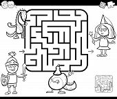 Maze Activity Game With Fantasy Characters poster