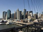 Lower Manhattan taken from the Brooklyn Bridge