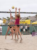 HUNTINGTON BEACH, CA. - MAY 22: AVP Huntington Beach Open women's qualifier match on May 22, 2009 in