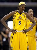 LOS ANGELES, CA. - SEPTEMBER 16: DeLisha Milton-Jones during the WNBA playoff game of the Sparks vs.